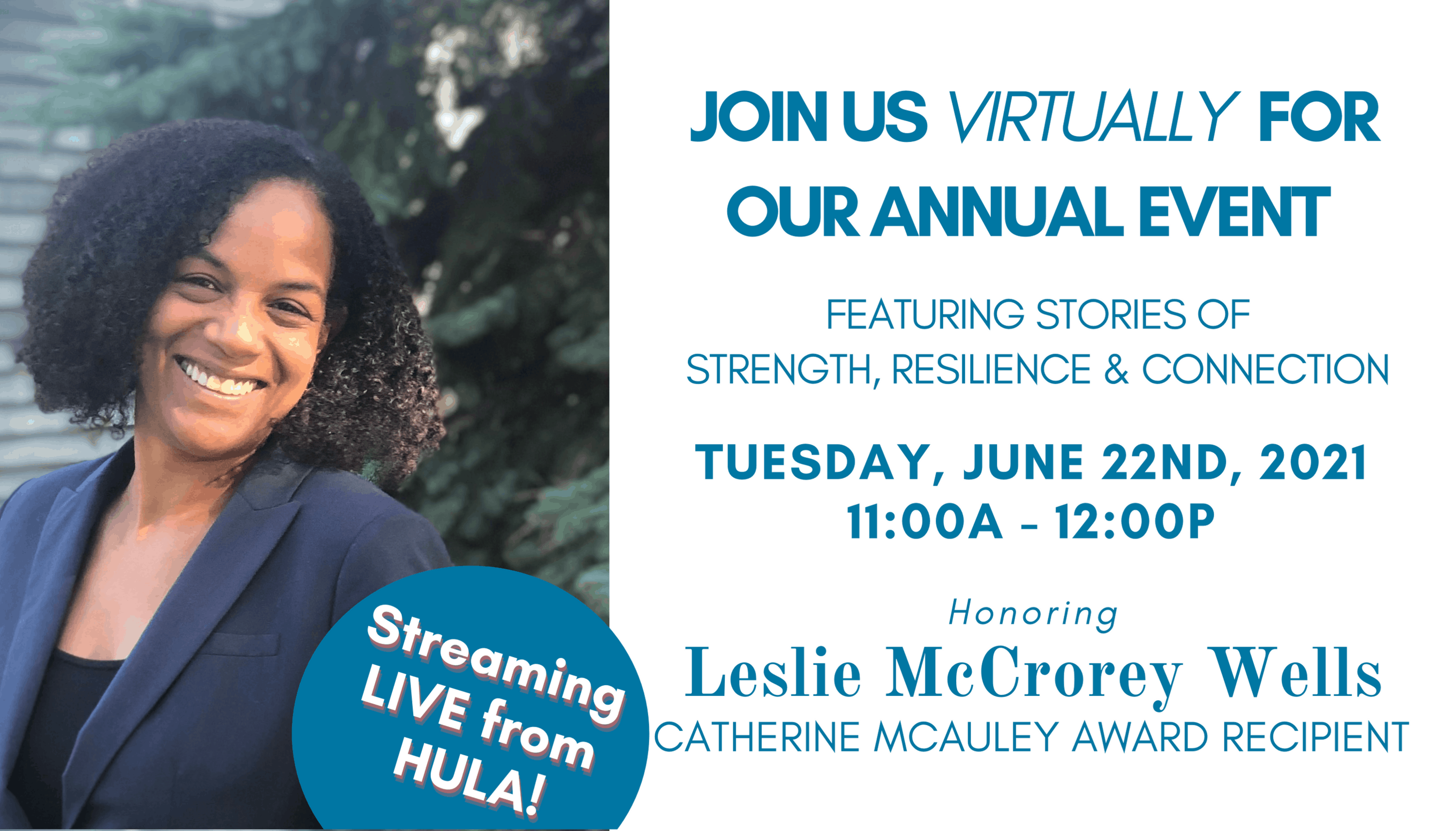 Join us virtually for our annual event